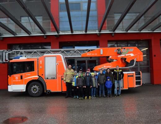 Besuch bei der Berufsfeuerwehr Linz
