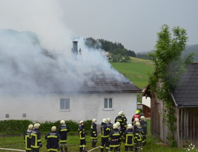 Brand Wohnhaus in Oepping