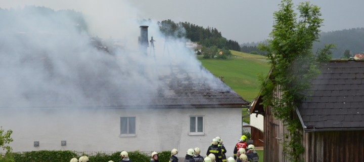 Brand Wohnhaus in Oepping