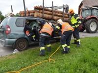 Unfall mit Rückewagen als Übungsannahme