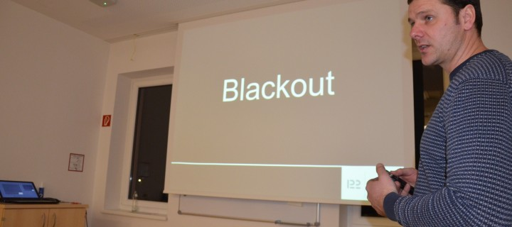 Blackout – Thema bei erster Monatsübung