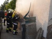 neuen Löschwasserbehälter in Martschlag beübt